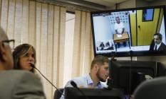 Audiencia por videoconferencia do ex-governador Sergio Cabral no Tribunal de Justivça do Rio de Janeiro Foto: Alexandre Cassiano / Agência O Globo