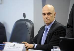 O indicado para o cargo de ministro do Supremo Tribunal Federal (STF), Alexandre de Moraes Foto: Marcos Oliveira/Agência Senado