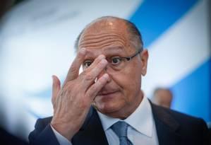 Alckmin disse que não foi comunicado sobre pedido de investigações da PGR e que as informações não são oficiais Foto: Edilsson Dantas / O Globo