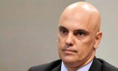 Alexandre Moraes, indicado ao STF, durante sabatina Foto: EVARISTO SA / AFP