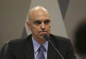 O ex-ministro da Justiça passou sem sustos pela sabatina no Senado Foto: Ailton Freitas / O Globo
