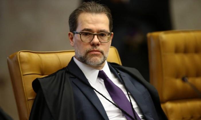 O ministro Dias Toffoli, em sessão do Supremo Tribunal Federal (STF) Foto: Jorge William / Agência O Globo/01-02-2017