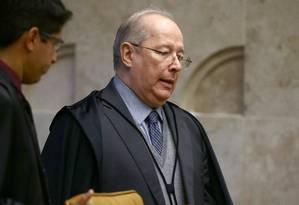 O ministro Celso de Mello, em sessão do Supremo Tribunal Federal Foto: Jorge William / Agência O Globo/15-02-2017