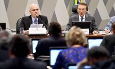 Sabatina de Alexandre de Moraes na Comissão de Constituição e Justiça Foto: EVARISTO SA / AFP
