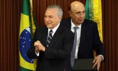 Agenda. Michel Temer e Henrique Meirelles se reuniram com parlamentares para defender a reforma da Previdência Foto: Jorge William / Agência O Globo