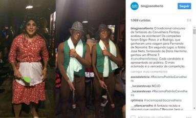Internautas acusaram racismo da premiação nas redes sociais Foto: Reprodução / Instagram