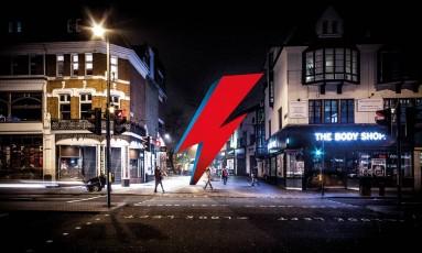 Projeto de como ficaria a escultura em homenagem a David Bowie, em Londres Foto: Divulgação