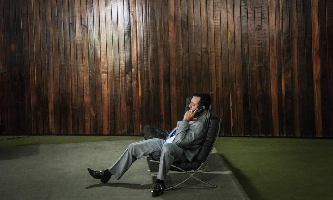 Contrastando com o clima do Senado Federal, empenhado na votação de Alexandre de Moraes para o cargo do Ministro do STF, a manhã de hoje na Câmara foi em clima de folga antes do feriado prolongado. Foto: ANDRE COELHO / Agência O Globo