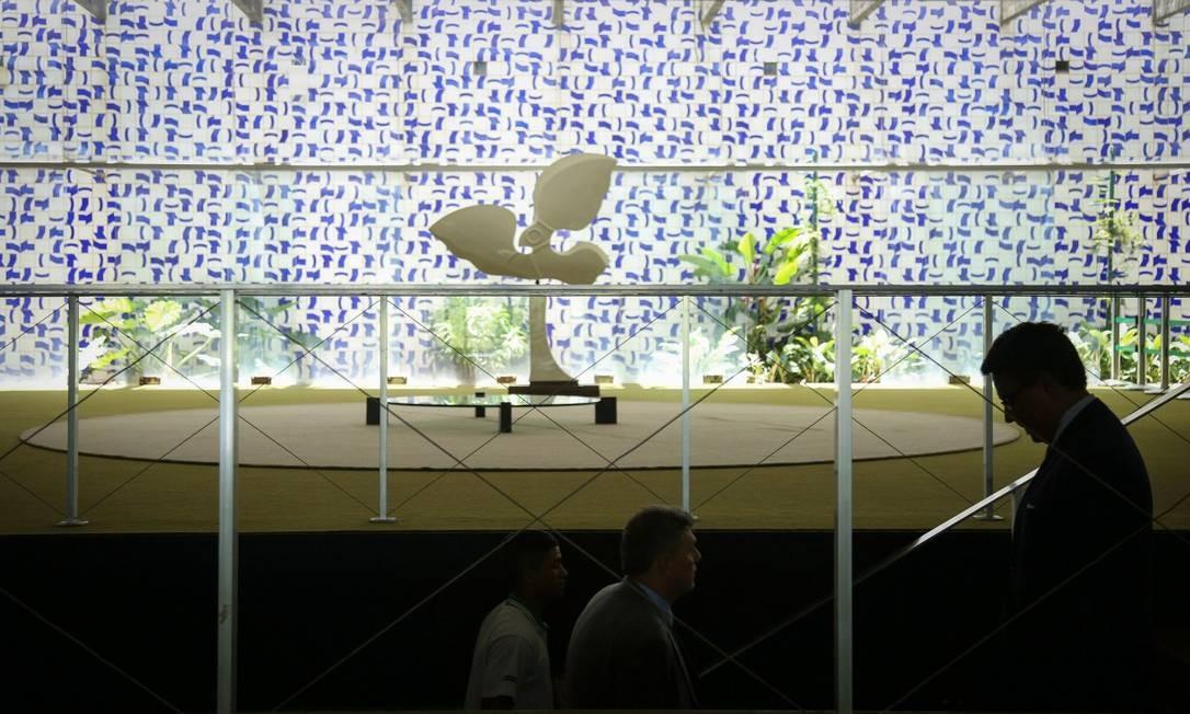Congresso em clima de carnaval. Câmara e Senado vazios já no meio da semana pré carnaval Foto: ANDRE COELHO / Agência O Globo