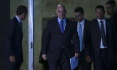 O novo ministro do STF, Alexandre de Moraes, durante visita ao tirbunal Foto: Jorge William / Agência O Globo