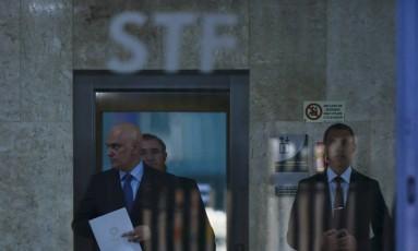 Alexandre de Moraes vai herdar processos de Teori no STF Foto: Jorge William / Agência O Globo