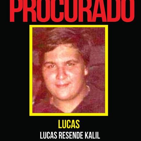 Lucas é o principal suspeito de matar seus parentes em São Gonçalo Foto: Divulgação/Portal dos Procurados