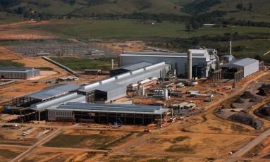 Foto aérea da siderúrgica da Votorantim, em Resende Foto: Divulgação/17-9-2009