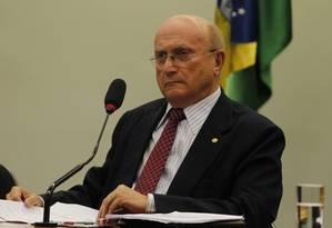 deputado Osmar Serraglio (PMDB-PR), durante reunião na CCJ Foto: Givaldo Barbosa / Agência O Globo