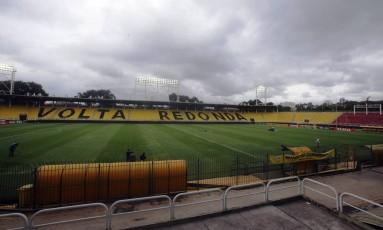Estádio Raulino de Oliveira, em Volta Redonda Foto: Rafael Moraes