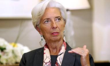 Christine Lagarde, diretora-gerente do FMI Foto: Ashraf Mohammad / Reuters