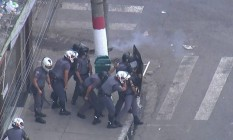 A Polícia Militar iniciou ao meio-dia dessa quinta-feira a Operação Nova Luz na região da Cracolândia, centro de São Paulo Foto: Reprodução / TV Globo