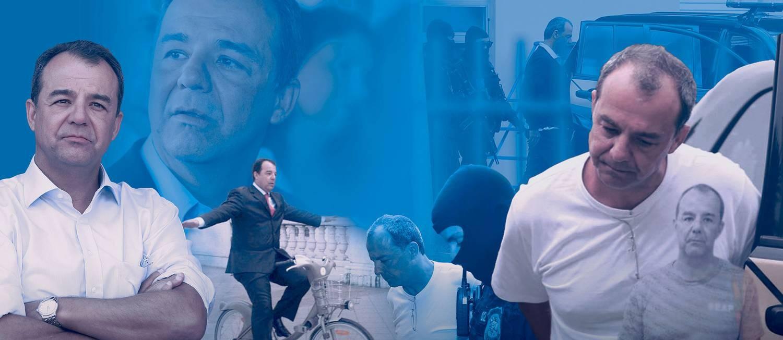 Sérgio Cabral em diversos momentos Foto: Fotomontagem/O Globo