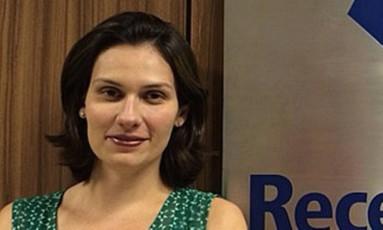 Repórter Martha Beck no Ministério da Fazenda. Foto: Agência O Globo