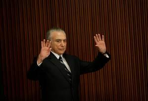 Presidente Michel Temer Foto: Ueslei Marcelino / Reuters