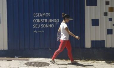Obra da PDG, no Cachambi: empresa pediu recuperação judicial, dívida de R$ 7,8 bilhões Foto: Gabriel de Paiva