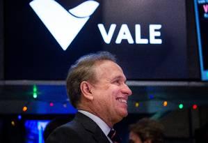 Murilo Ferreira na Bolsa de Nova York, em 2016. Foto: Michael Nagle/Bloomberg Foto: Michael Nagle / Bloomberg