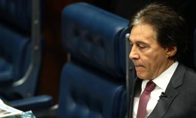 O presidente do Senado Eunício de Oliveira Foto: Jorge William / Agência O Globo