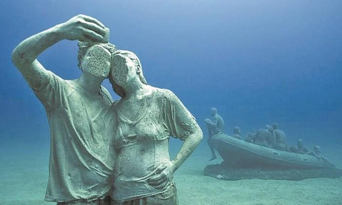 Esculturas nas Canárias Foto: Jason LeCaires Taylor/Divulgação