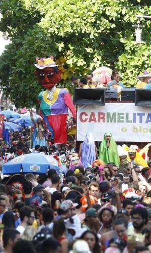 O tradicional bloco Carmelitas em Santa Teresa Foto: Pablo Jacob / Pablo Jacob