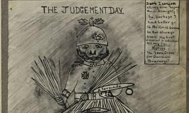 'O Dia do Julgamento', de Alice Engelbert, mostra o kaiser Guilherme II Foto: Reprodução