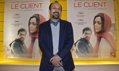 O cineasta iraniano Asghar Farhadi Foto: Michel Euler / AP