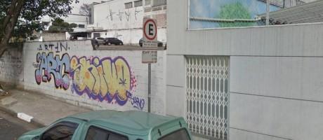 Imagem feita pelo Google Street View do local onde ocorreu o desabamento Foto: Reprodução Google Street View