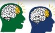 Ilustração mostra a sincronia na atividade de regiões do cérebro entre falante e ouvinte Foto: Divulgação/Universidade Drexel