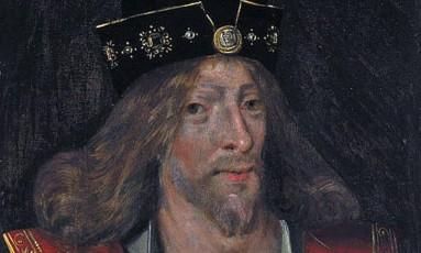 Pintura de James I está exposta na Galeria Nacional Escocesa de Retratos Foto: Reprodução