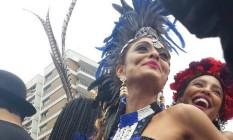 Juliana Paes, madrinha do Bloco da Favorita Foto: Kátia Gonçalves / Agência O Globo