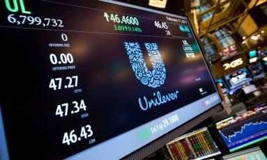 Logo da Unilever Foto: Michael Nagle / Bloomberg