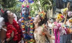 Foliões capricharam na fantasia para o desfile de Céu na Terra Foto: Ana Branco / Agência O Globo