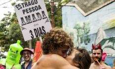 Também no Céu na Terra, não faltaram fantasias irreverentes Foto: Ana Branco / Agência O Globo