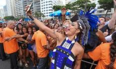 A musa Juliana Paes foi uma das sensações do desfile Foto: Riotur / Divulgação
