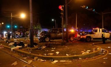 A caminhonete dirigida pelo motorista que atropelou multidão em Nova Orleans Foto: SHANNON STAPLETON / REUTERS
