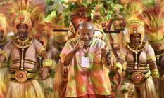 Unidos de Padre Miguel mostrou um samba poderoso que agitou a Sapucaí Foto: Diego Mendes / Agência O Globo