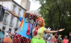 Quanto riso e quanta alegria no desfile do Boitatá no Centro do Rio Foto: Marcia Foletto / O Globo