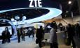 A ZTE quer desbravar o territórios dos smartphones com conexão de altíssima velocidade Foto: ROBERT GALBRAITH / REUTERS