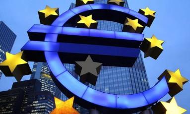 Símbolo do Euro Foto: Getty Images