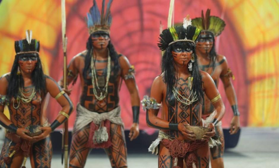 Desfile das escolas de samba do Grupo Especial. GRES Paraíso do Tuiutí Foto: Marcelo Theobald / Agência O Globo