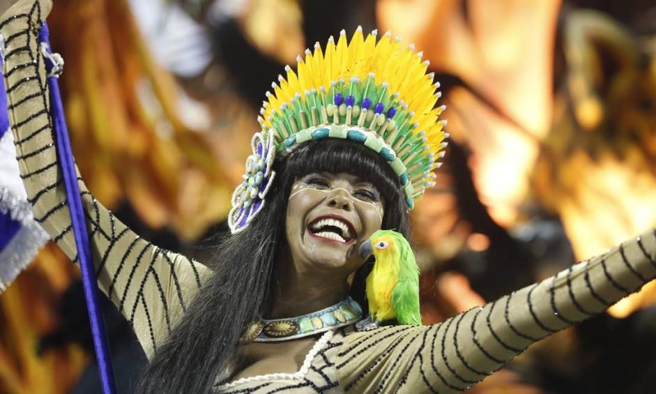 Desfile das escolas de samba do Grupo Especial. GRES Beija Flor Foto: Fabio Rossi / Agência O Globo