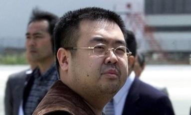 Foto de 2001 mostra homem que seria Kim Jong-nam, assassinado com o agente neurotóxico VX Foto: Shizuo Kambayashi / AP