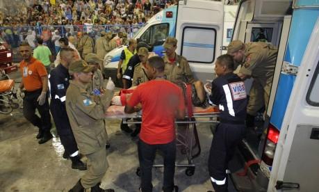 Acidente atingiu 20 pessoas. Foto: Marcelo Theobald/Agência O Globo