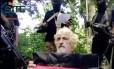 Imagem mostra Jurgen Gustav Kantner pedindo socorro por resgate antes de ser decapitado Foto: AP