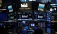 Bolsa de Nova York: ações em leve baixa Foto: Andrew Kelly/Reuters